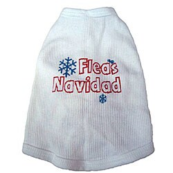 'Fleas Navidad' Cotton Dog Tank Top