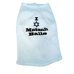 'I Love Matzah Balls' Cotton Dog Tank Top