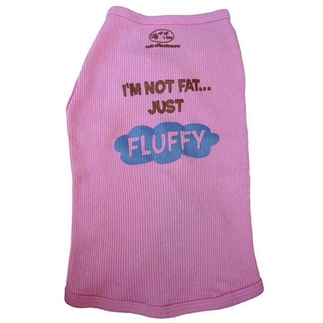 'I'm Not Fat, Just Fluffy' Pet Tank Top