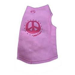 Ruff Ruff and Meow 'Peace-n-Love' Dog's Tank Top