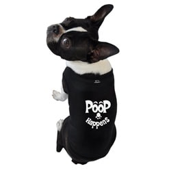 Ruff Ruff and Meow 'Poop Happens' Dog's Tank Top