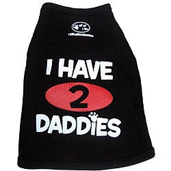 Ruff Ruff and Meow 'I Have 2 Daddies' Dog Tank Top