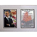 Barack Obama Double-matted 5x7 Photo Print