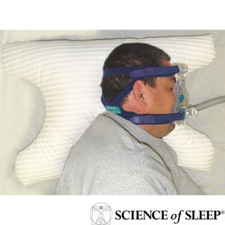 Science of Sleep SleePap Soft Polyester-fill Polycotton-covered Pillow for CPAP Users