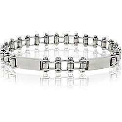 Mondevio Stainless Steel Men's Bike Chain Link Bracelet