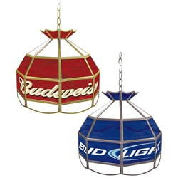 Beer-themed 16-inch Tiffany-style Stained Glass Lamp
