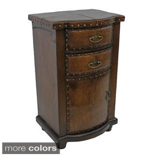International Caravan Faux Leather Cabinet