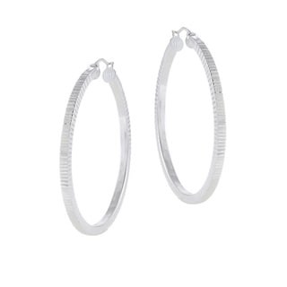 Mondevio Sterling Silver Hoop Rigged Earrings