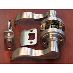 Satin Nickel Door Lever Privacy Set