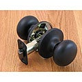 Matte Black Doorknob Passage Set