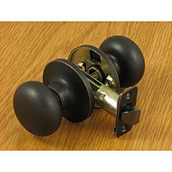 Dark Oil-rubbed Bronze Mushroom Doorknob Set