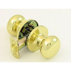 Polished Brass Doorknob Passage Set