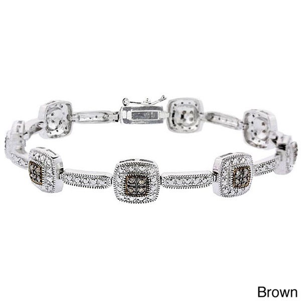 DB Designs Sterling Silver 2/5ct Diamond Link Bracelet (I2)