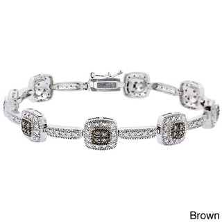 DB Designs Sterling Silver Diamond Link Bracelet (I2)