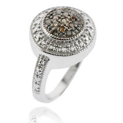 DB Designs Sterling Silver 1/6ct TDW Brown Diamond Ring
