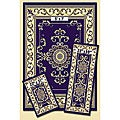 Navy Medallion 3-Piece Rug Set