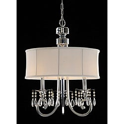 Fabric Shade 3-light Crystal Chandelier