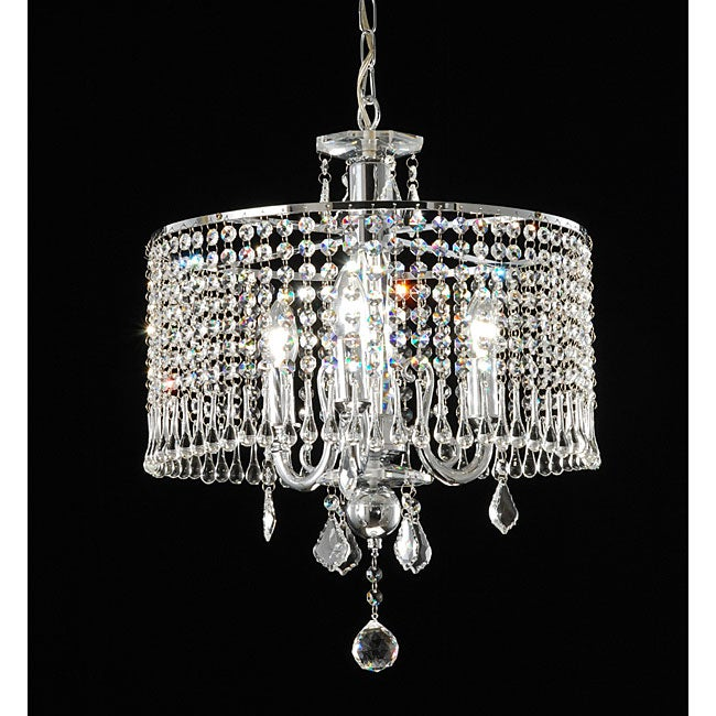 Contemporary Three Light Crystal Chandelier Free Shipping