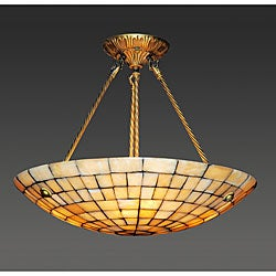Alabaster Stone 3-light Chandelier