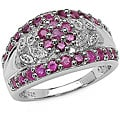 Malaika Sterling Silver Genuine Ruby Ring (Size 7)