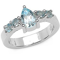 Sterling Silver Genuine Blue Topaz Ring