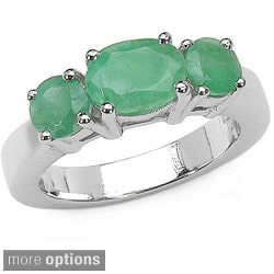 Malaika Sterling Silver Prong-set Gemstone Ring