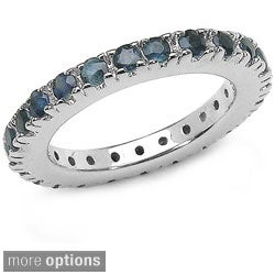 Malaika Sterling Silver Gemstone Eternity Ring