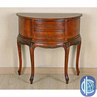International Caravan Half Moon 2-drawer Wall Table