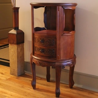 International Caravan Carved Wood Accent Table
