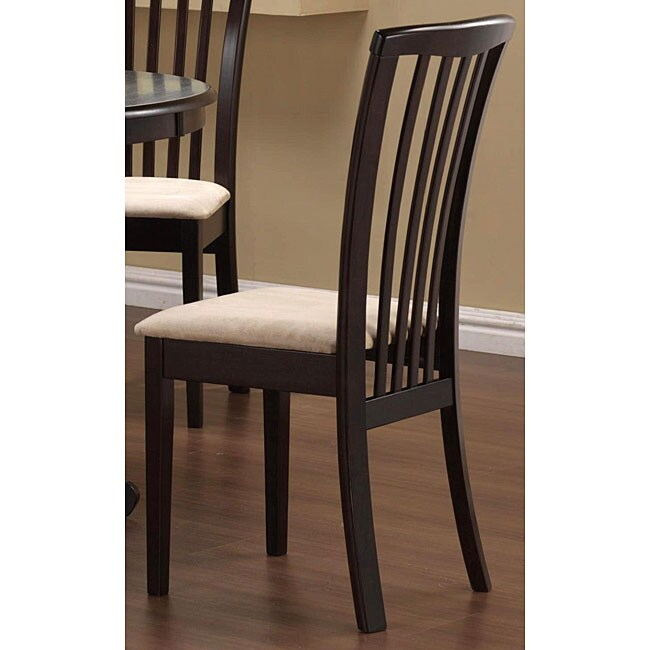 Cappuccino Wood Slat-back Chairs (Set of 2)