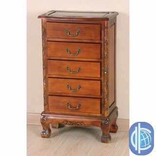 International Caravan Carved Wood 5-drawer Lingerie Chest