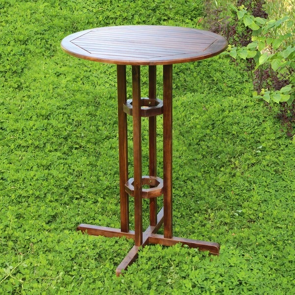International Caravan Acacia Wood Bar-height Bistro Table
