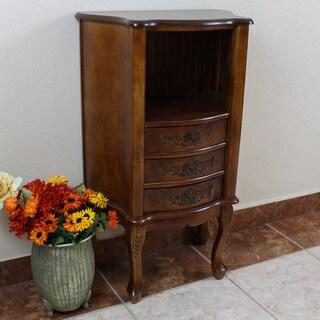 International Caravan Carved Wood Telephone Stand