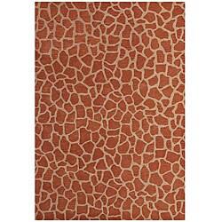 Hand-tufted Giraffe Gold Wool Rug (5' x 8')