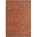 Hand-tufted Giraffe Gold Wool Rug (5' x 8')