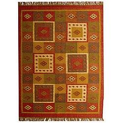 Hand-woven Jute Wool Rug (4' x 6')
