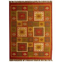 Hand-woven Nihon Jute Wool Rug (8' x 10'6)