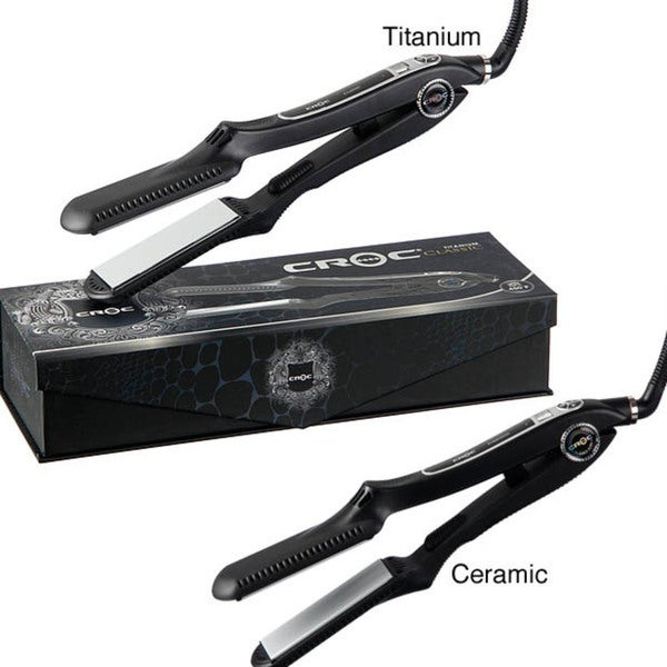 Turboion Croc Classic 450 Regular 1.5-inch Flat Iron