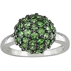 Sterling Silver Tzavorite Ball Ring