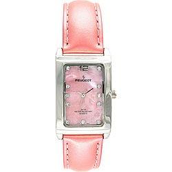 Peugeot Women's Pink Leather Strap Quartz Watch