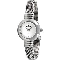 Peugeot Women's Silver Dial Mesh Cuff Watch