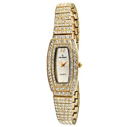 Peugeot Women's Goldtone Crystal Encrusted Watch