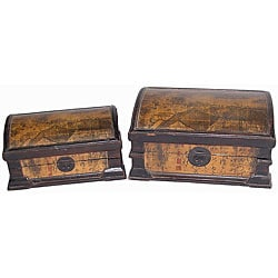 Set of 2 Rooftop Design Storage Chests (China)