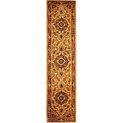 Safavieh Handmade Classic Heriz Gold/ Red Wool Runner (2'3 x 10')