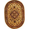 Handmade Classic Heriz Gold/ Red Wool Rug (4'6 x 6'6)