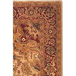 Safavieh Handmade Classic Heriz Gold/ Red Wool Rug (7'6 x 9'6)