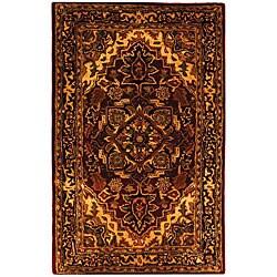Safavieh Handmade Classic Heriz Red/ Navy Wool Rug (3' x 5')