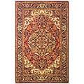 Safavieh Handmade Classic Heriz Red/ Navy Wool Rug (4' x 6')