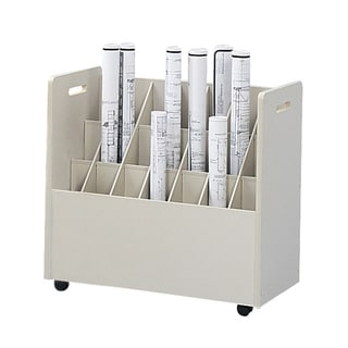Safco Mobile Roll File, 21 Compartment