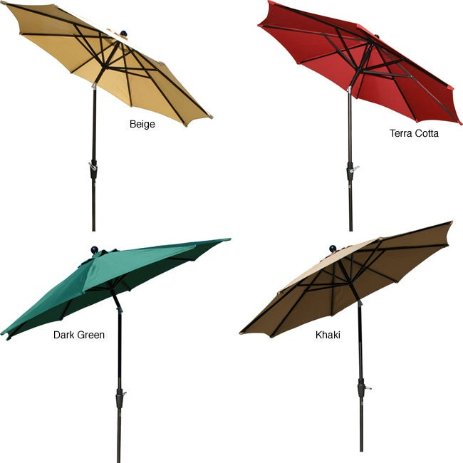 Lauren & Company Aluminum 9-foot Elegant Collar-tilt Patio Umbrella